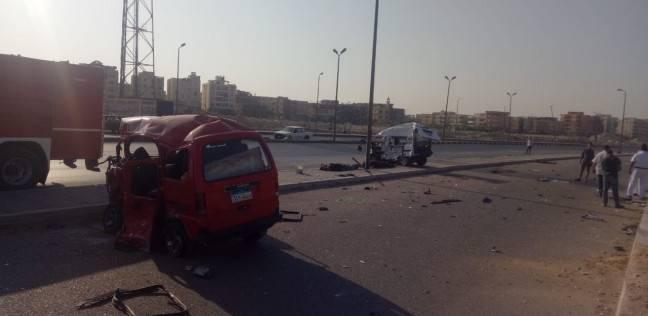 """إصابة عاملين في تصادم سيارة بدراجة نارية على طريق """"السادات- كفر داوود"""""""