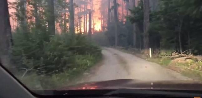 أب وابنه ينجوان من حريق بغابات مونتانا