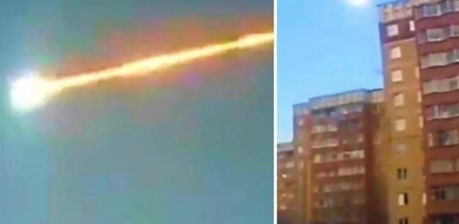 انفجار نيزك فوق سماء مدينة روسية