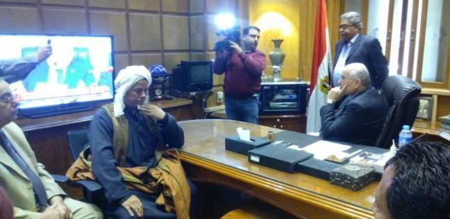 موسى مصطفى موسى يتابع نتيجة انتخابات الرئاسة بمقر حزب الغد