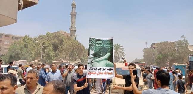 بالصور| تشييع جنازة شهيد سيناء في الخانكة