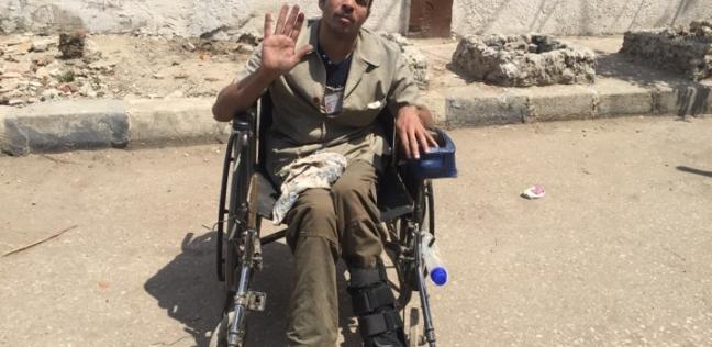 """""""المعاق هو المقاطع"""".. جمال بالاستفتاء على كرسي متحرك """"عشان البلد تمشي"""""""