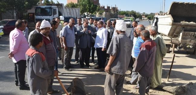 بالصور| محافظ الفيوم يطلق حملة موسعة لنظافة وتشجير الطريق الدائري