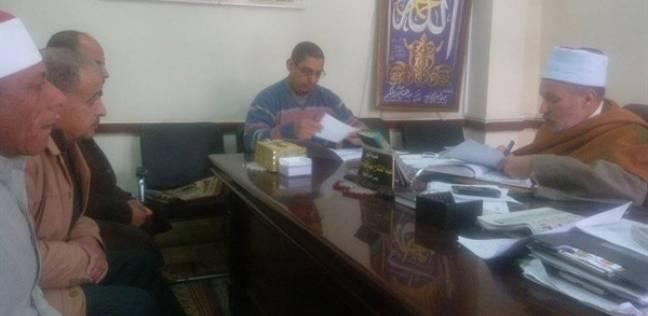 رئيس منطقة البحيرة يجري مقابلة لاختيار شيخ معهد فتيات كوم القناطر