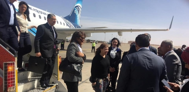قيادات الطيران المدني تستقبل ضيوف ملتقى الشباب العربي الأفريقي بأسوان