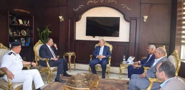 محافظ البحر الأحمر يستقبل مدير الأمن لتهنئته بتجديد الثقة فيه