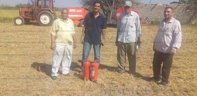 بالصور| فتح 11 موقعا لتجميع قش الأرز في كفر الشيخ
