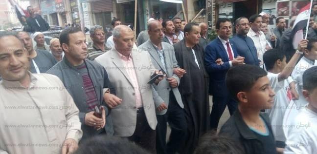 """حملة """"مواطن"""" لدعم السيسى تنظم مسيرة بالسيارات في إيتاى البارود"""