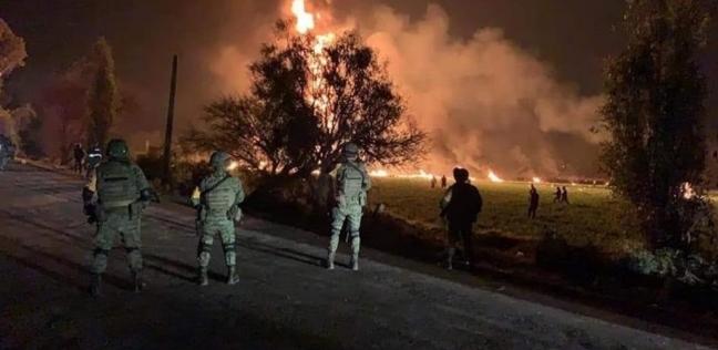 66 قتيلا وعشرات الجرحى في انفجار أنبوب نفطي بالمكسيك