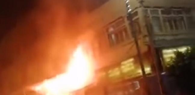 اشتعال النيران في مطعم ليلة الافتتاح
