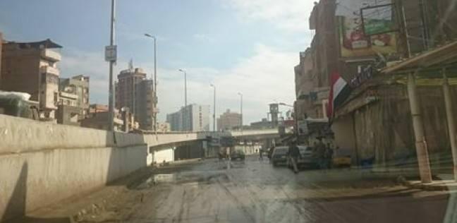 بالصور  البرك تغزو شوارع الغربية بسبب الأمطار الغزيرة