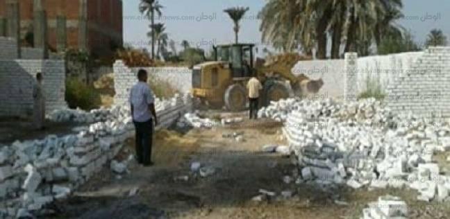 حملة لإزالة التعديات على أملاك الدولة والأرض الزراعية في فوه