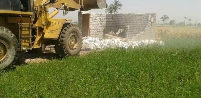 إزالة 4 حالات تعدي على أراضي زراعية في البحيرة