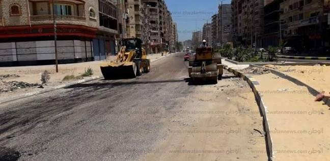 الانتهاء من أعمال رصف 14 طريقا بكفر الدوار في البحيرة