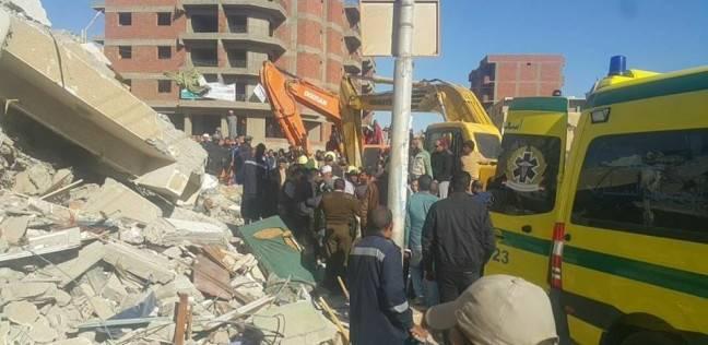 التصريح بدفن جثة المتوفى في حادث انهيار عمارة سكنية بالوادي الجديد