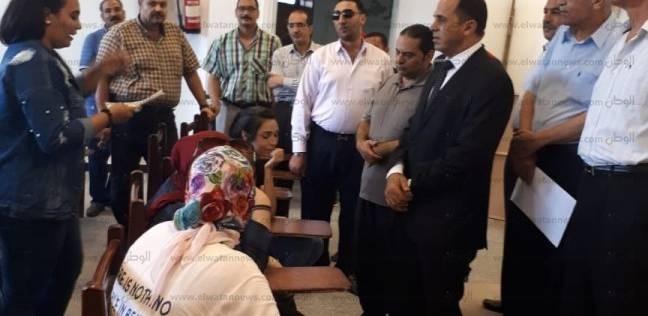 رئيس جامعة دمنهور يتابع اختبارات القدرات بكلية التربية النوعية