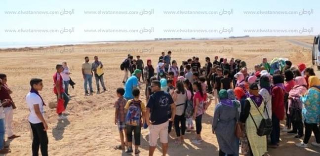 بمشاركة 100 شاب وفتاة جمع 5 أطنان قمامة بمبادرة لتنظيف شواطئ الغردقة