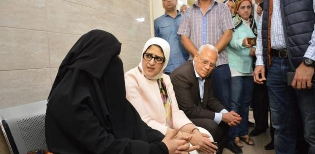 وزيرة الصحة ومحافظ بورسعيديتفقدانمستشفى أطفال النصر التخصصي