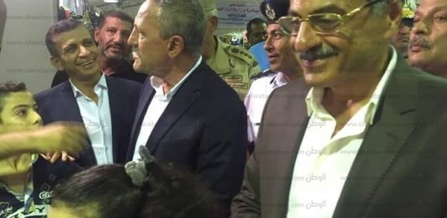 بالصور  مدير أمن الإسماعيلية في افتتاح معرض الداخلية لمستلزمات المدراس