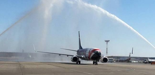 تعرف إلى سر رش المياه على طائرة منتخب مصر في موسكو