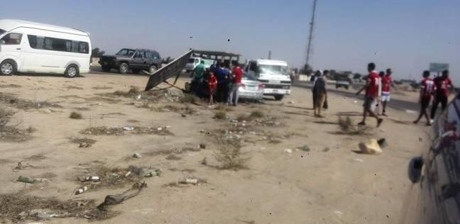 مصرع مواطن وإصابة 5 آخرين في انقلاب سيارة بالفيوم