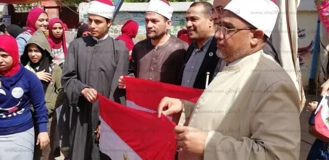 """شيوخ بـ""""أوقاف شرق شبرا الخيمة"""" يدعون المواطنين للمشاركة في الانتخابات"""