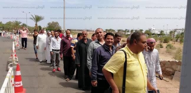 توافد الناخبين على لجان دهب في آخر أيام الاقتراع