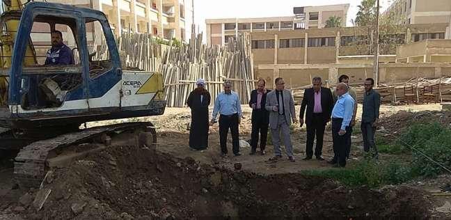 البدء في أعمال حفر أساس عيادة الحسينية للتأمين الصحي