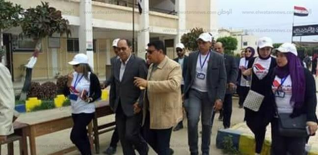 منسق ائتلاف دعم مصر يتفقد اللجان الانتخابية في مدينة عزبة البرج