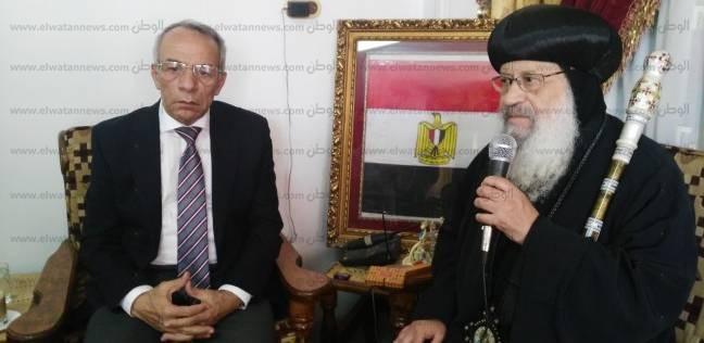 وفد كنسي برئاسة أسقف سيناء الشمالية يهنئ حرحور بمناسبة عيد الأضحى