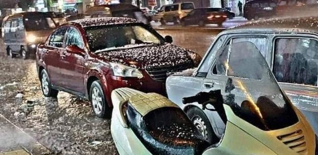 بالصور  طوارئ بالإسكندرية بعد سقوط أمطار ثلجية غربي المدينة
