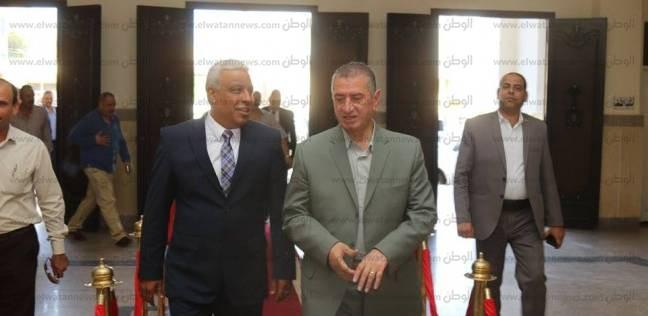بالصور| محافظ كفر الشيخ يزور مدير الأمن الجديد بمكتبه