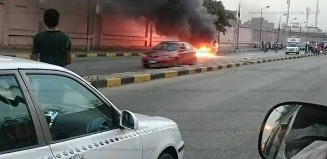 إخماد حريق بسيارة في شارع السودان.. ولا إصابات