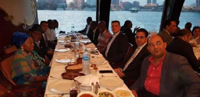 """بالصور"""" """"أفريقية النواب"""" تقيم حفل إفطار على شرف رئيس برلمان غانا"""