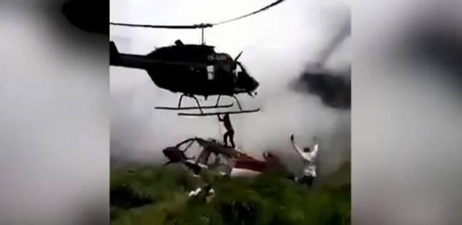 مقتل رجل وتحول جثته إلى أشلاء بسبب طيار فقد السيطرة على مروحيته