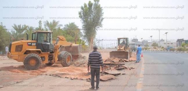 بدء تطوير وتوسيع طريق مدخل مدينة شرم الشيخ