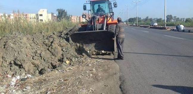محافظ دمياط يتابع أعمال تطوير وتجميل مدخل مدينة كفر سعد
