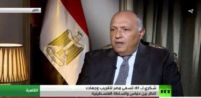 """""""شكري"""" لرئيس وزراء البحرين: ملتزمون بأمن الخليج ضد التدخلات الخارجية"""