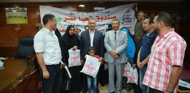 بالصور  توزيع 500 كيلو لحوم على الأسر الأكثر احتياجا بكفر الشيخ