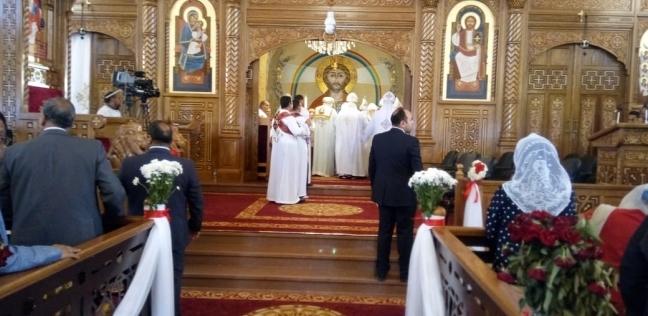 البابا تواضروس يترأس القداس عقب تدشين كنيسة السيدة العذراء بالسادات