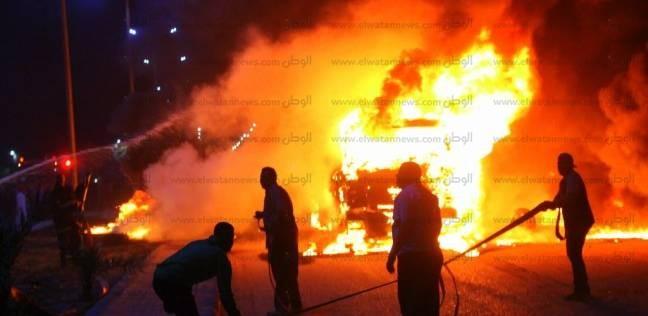 السيطرة على حريق بجراج مديرية التربية والتعليم بشبين الكوم