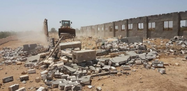 إزالة 20 حالة تعد على الأراضي الزراعية في كفر الشيخ