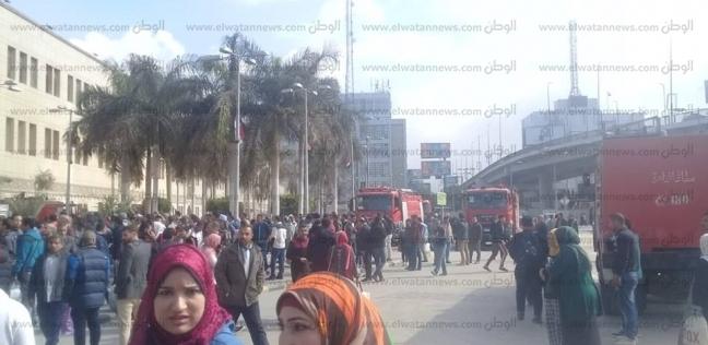 بالصور: «جثث متفحمة» بحريق «محطة مصر».. ووصول 20 سيارة إسعاف