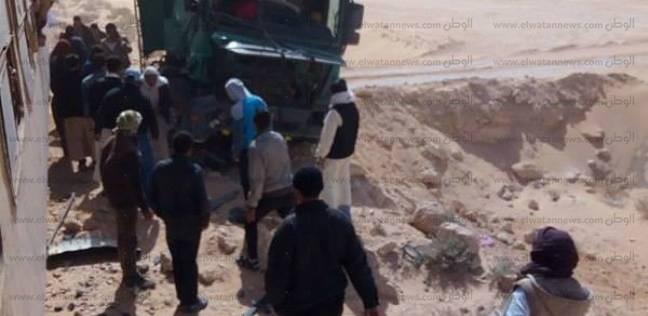إصابة 7 أشخاص إثر انقلاب مقطورة جرار زراعي على سيارة في بورسعيد