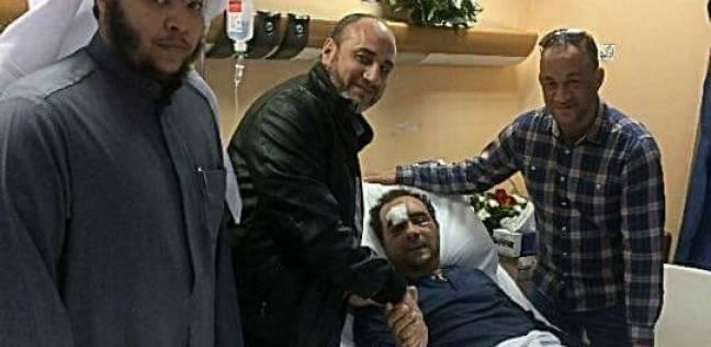 الجالية المصرية بالكويت تزور المواطن المصري الذي اعتدى عليه كويتي