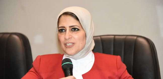 """وزيرة الصحة: عربات """"مبادرة الرئيس"""" في منتدى الشباب مخصصة للمصريين فقط"""