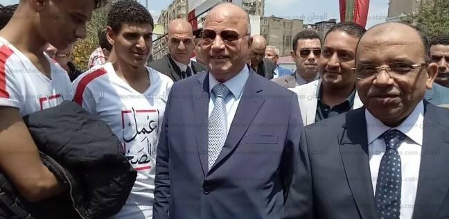 محافظ القاهرة يتفقد لجنة المدرسة التوفيقية بروض الفرج