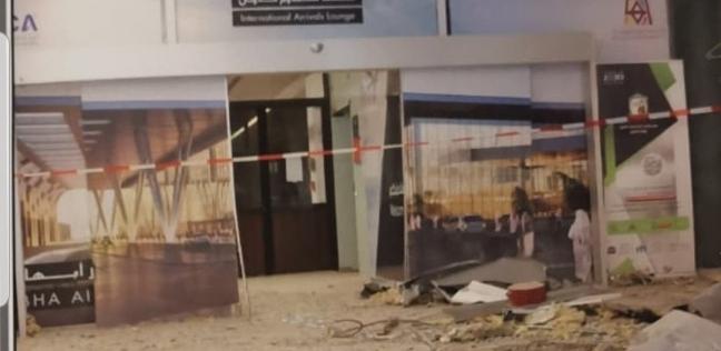 """صور أولية لمطار """"أبها"""" السعودي بعد استهدافه بصاروخ حوثي"""