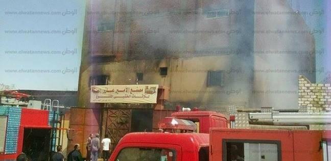 السيطرة على حريق نشب بمصنع سيراميك في العاشر من رمضان