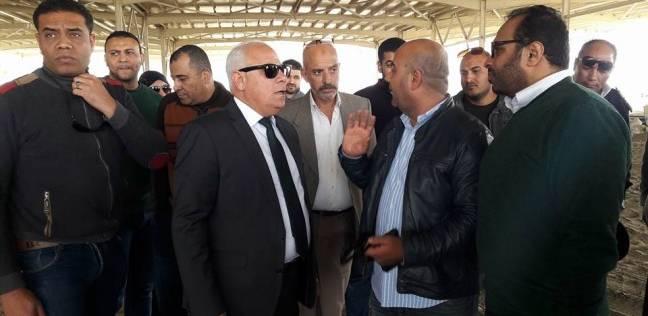 محافظ بورسعيد يتفقد أعمال إنشاء مصنع إنتاج إطارات السيارات